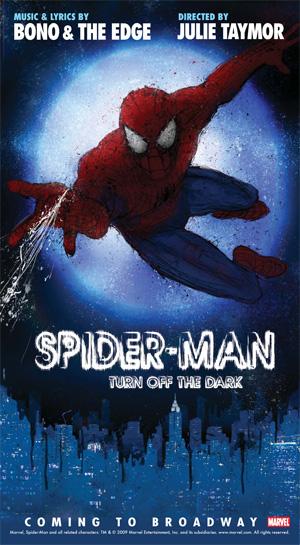 Locandina del musical su Spiderman
