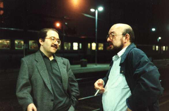 Giuseppe Lippi e Vittorio Curtoni, foto di Giuseppe Festino (via Intercom)