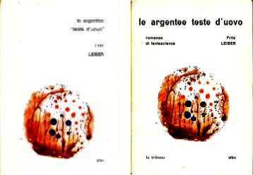 copertina di Le argentee `Teste d'uovo`