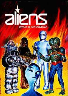 copertina di un volume della collana Aliens. Rivista di Fantascienza