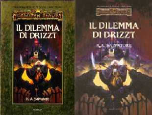 copertina di un volume della collana Forgotten Realms. Trilogia degli Elfi Scuri
