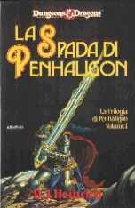 copertina di un volume della collana Dungeons & Dragons. La Trilogia di Penhaligon