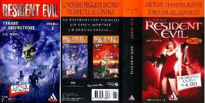 copertina di un volume della collana Resident Evil. Urania