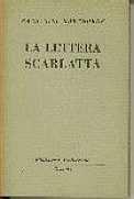 copertina di La lettera scarlatta