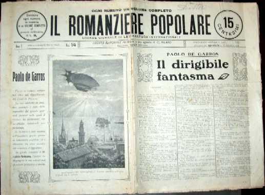 copertina di un volume della collana Il Romanziere Popolare