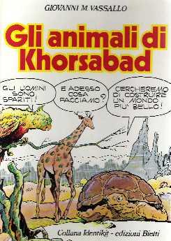 copertina di Gli animali di Khorsabad. Storia futura del popolo animale