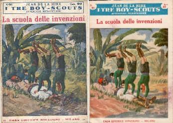 copertina di un volume della collana I Tre Boy Scout