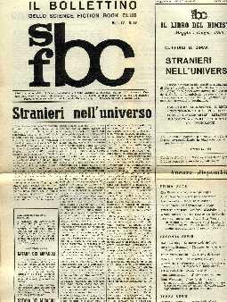 copertina di Il Bollettino dello Science Fiction Book Club a. IV, n. 17