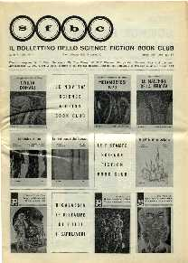 copertina di Il Bollettino dello Science Fiction Book Club a. V, n. 22/23