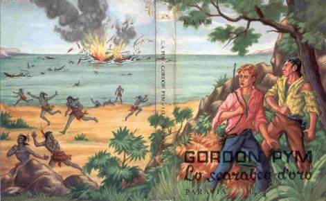 copertina di Gordon Pym Lo scarabeo d'oro