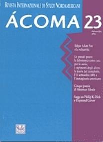 copertina di un volume della collana Ácoma, rivista internazionale di studi nordamericani