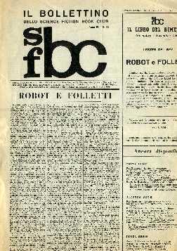 copertina di Il Bollettino dello Science Fiction Book Club a. IV, n. 20
