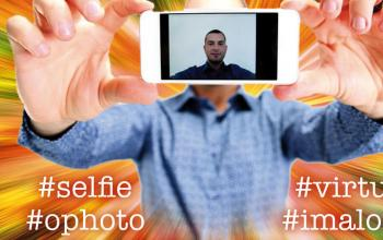 Un selfie per Alessandro Forlani