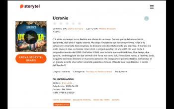 Ucronia, il romanzo di Elena di Fazio in Audiobook