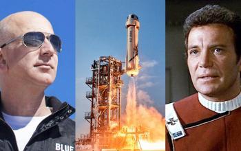 William Shatner andrà nello spazio (per davvero) con la Blue Origin
