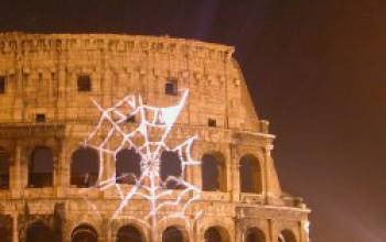 Spider-Man sul Colosseo