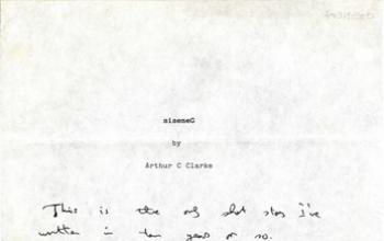 Il racconto più breve di Arthur C. Clarke