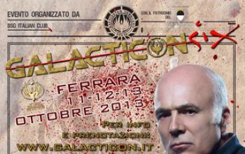 A Ferrara la Galacticon Six, con Michael Hogan