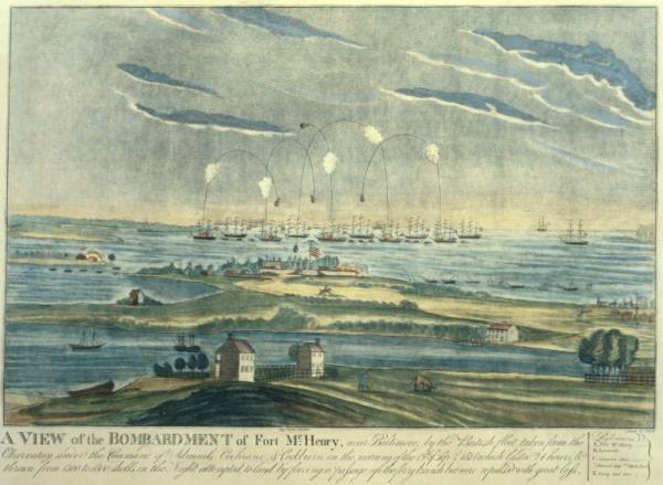 Il bombardamento di Fort McHenry (da Wikipedia)