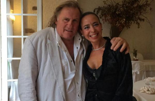Eleonora Fani con Gérard Depardieu