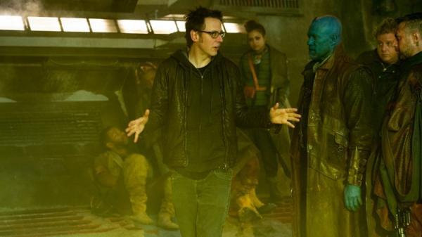 James Gunn sul set di Guardiani della galassia vol.2