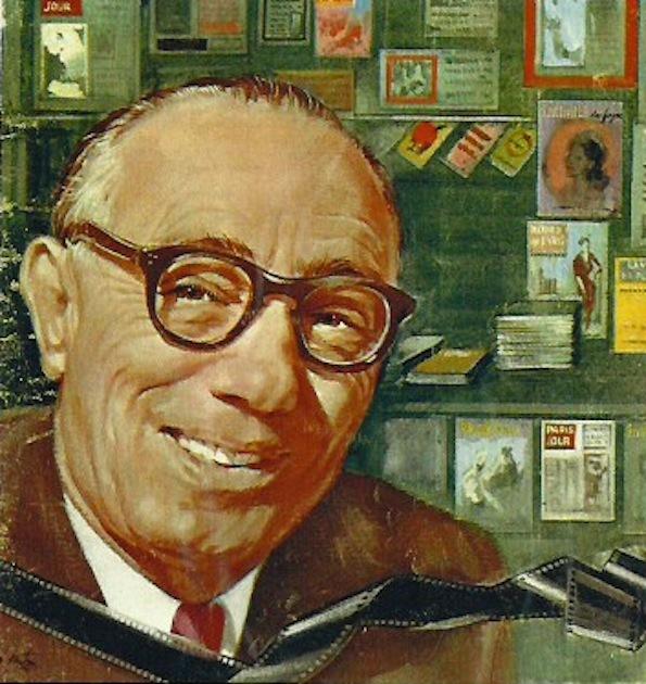 Cino Del Duca in un ritratto di Walter Molino