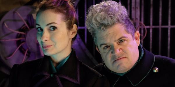 """Felicia Day e Patton Oswald, i """"cattivi"""" della serie."""