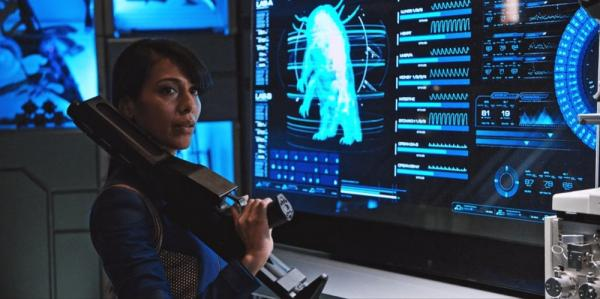La protagonista, Rekha Sharma, in Star Trek: Discovery.