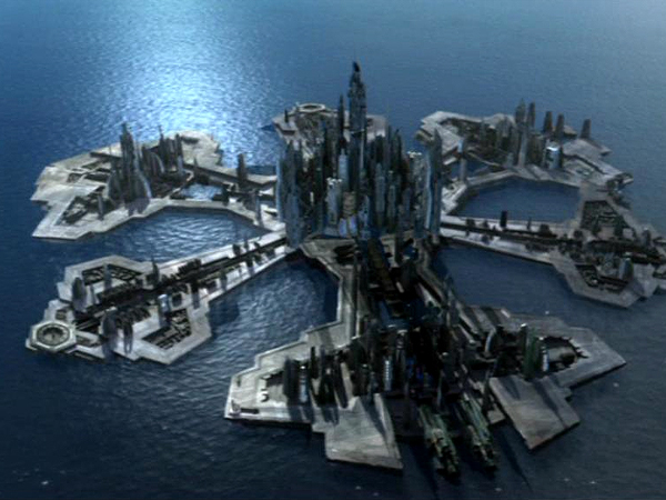 La città di Atlantis, in <i>Stargate Atlantis</i>