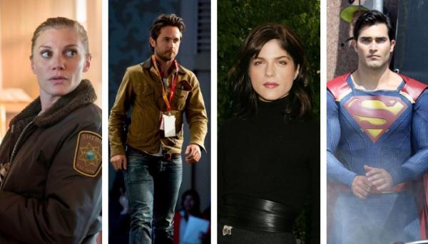 """Alcuni degli attori protagonisti della serie """"Another Life"""": da sinistra Katee Sackhoff, Justin Chatwin, Selma Blair e Tyler Hoechlin."""