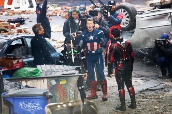 Una foto dal set di Avengers 4