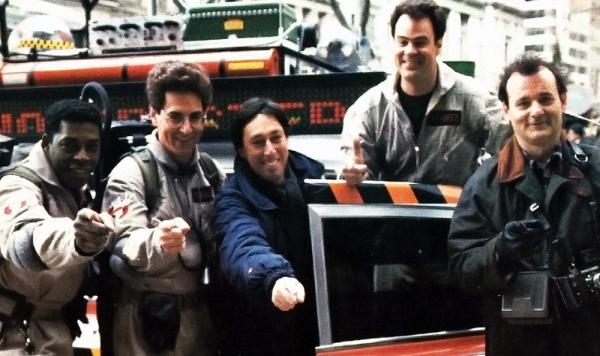 Ivan Reitman sul set del primo Ghostbusters