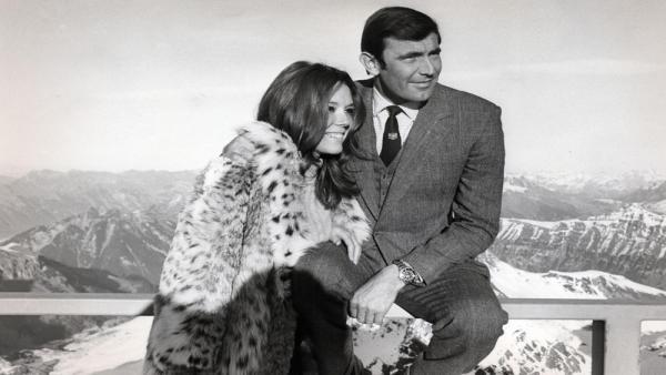Diana Rigg con George Lazenby in<i>Agente 007 - Al servizio segreto di Sua Maestà</i>