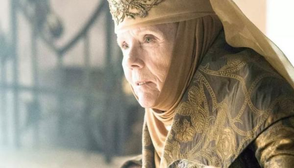 Diana Rigg nei panni di Lady Olenna in <i>Game of Thrones</i>