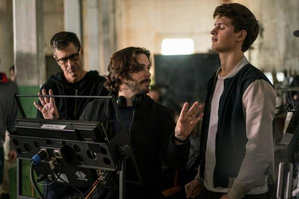 Edgar Wright sul set di Baby Driver.