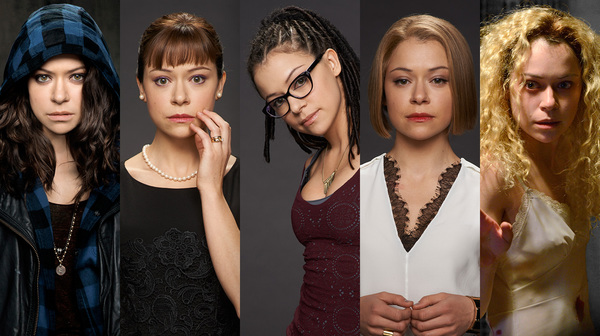Sarah, Allison, Cosima, Rachel, Helena