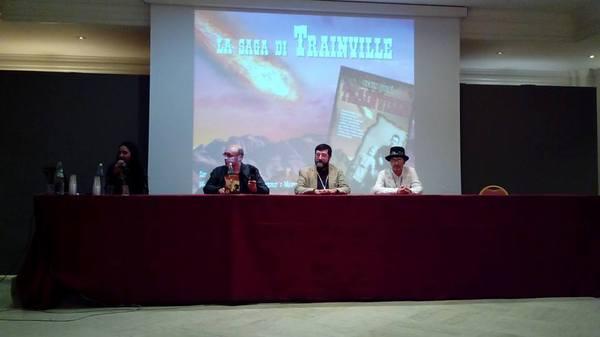 Il panel sullo steampunk, con Greta Cerretti, Silvio Sosio, Alain Voudì e Dario Tonani