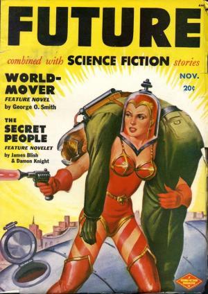 Copertina della rivista <i>Future</i>, 2.4, novembre 1950, illustrata da Milton Luros.
