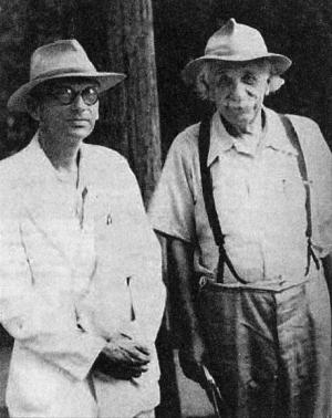 Kurt Gödel e Albert Einstein nel 1950