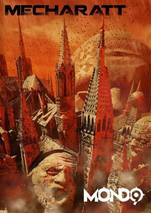 Illustrazione di Franco Brambilla per la saga di Mondo9 di Dario Tonani
