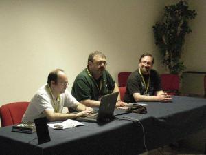 Un'incontro in sala Italcon con Armando Corridore, Claudio Chillemi e Luigi Petruzzelli