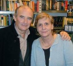 David Ambrose con la libraia Tecla Dozio, grande amica della fantascienza milanese