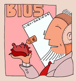 Disegno di Luca Vergerio per <i>Bios</i>