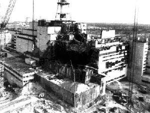 La centrale nucleare di Chernobyl dopo il disastro