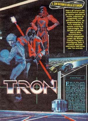 Il Cineracconto della settimana di <i>Tron</i>, da TV Sorrisi e Canzoni n. 17 dell'Aprile 1983