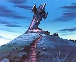 """Il razzo che avrebbe dovuto portare in salvo l'umanità dopo le bombe... (da """"Conan ragazzo del futuro"""", Hayao Miyazaki 1978)"""