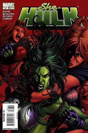 La copertina del numero 36 di She-Hulk, con disegni di Pasquale Qualano