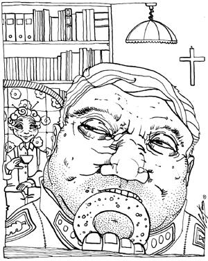 Illustrazione di Luca Vergerio per <i>Cronovisioni</i>