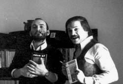 Curtoni (con Nova SF) e Magaguti (con Robot) nel 1971 (foto: Curtoni)