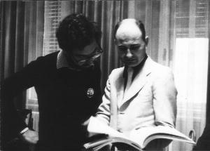 Aurelio De Grassi (a destra), luglio 1972